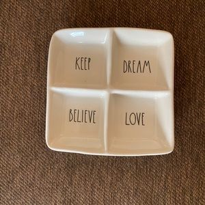Rae Dunn Keep Dream Believe Love Trinket Dish